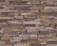 3D Tappezzeria 9142-17 beige marrone Natura Muro Pietra Cava pietra Clinker