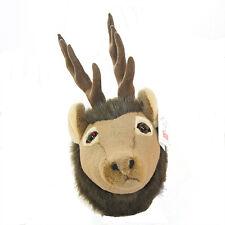 "Stuffed Animal House 7"" Elk Junior Plush Head Walltoy Antlers Mount Hunting NWT"