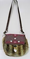 OILILY Faux Fur Flap Front Shoulder Bag Handbag, EUC Free Shipping