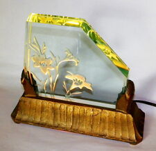 VINTAGE ART DECO ETCHED GLASS :LILY LAMP
