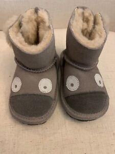 NEW EMU Australia Koala Walker Baby Boots Shoes Animal Mastic Grey 6-12 Months