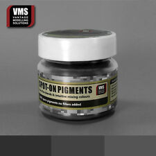 VMS SPOT-ON Pigment No. 12b Black Steel Metallic 45 ml model weathering powder