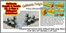 Industrial Roof Cyclone Vents w/Square Base-Large N/1:160-CAL Freight & Details