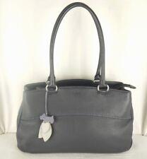 """Radley """"Beddington"""" Navy Blue Leather Shoulder Bag Work Bag Large Used"""