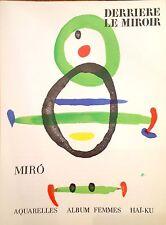 Joan Miro Authentic Lithographs Color B/W Near Mint DLM 169 Dec 1967 Maeght Edt