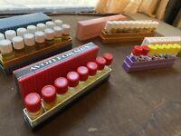 4 Vtg Fragrance Demonstrator Avon For Men Cologne, No. 1 Bath Freshener 39 Vials