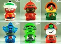 LOT 6 BANDAI RED MAGIC CIBOYS GUNDAM Z SERIES mini FIGURE Set 7-11 kubrick kaws