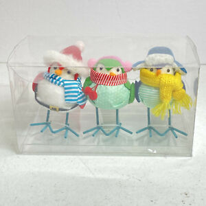 NEW 2020 Set 3 Outdoorsy Mini Birds Holiday Bird Figurine Wondershop Christmas