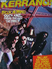 KERRANG 192 - DEATH ANGEL/MACC LADS/DAVID LEE ROTH/FREHLEY'S COMET