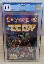 ICON #18 ~ CGC 9.8 ~ WHITE PAGES ~ DC / MILESTONE COMICS ~ LOW POP