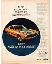 1970 Ford Maverick Grabber Automobile Car Vtg Print Ad