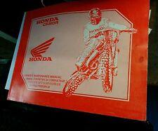 Honda CR80R Owners maintenance manual  1989