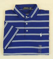 $98 Men Polo Ralph Lauren Pony Striped Soft Touch Med Fit Classic Golf Shirt M L