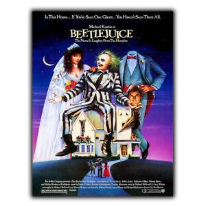 SIGN METAL WALL PLAQUE Beetlejuice Movie Film poster man cave 80s cinema room