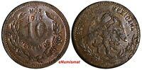 Mexico-Revolutionary MORELOS Copper 1916 10 Centavos aUNC KM# 700