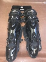 New Men's Adidas Pro Series Cathers Leg Guards 2.0 15.5 Inch Black S98307