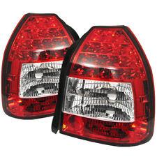 Honda 96-00 Civic 3Dr Red Clear LED Rear Tail Lights Lamp Set CX DX HATCHBACK
