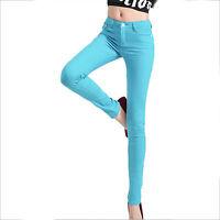 Hot Women Casual Pencil Skinny Leg Slim Jeggings Pants Stretchy Jeans Trouser AU