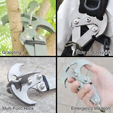 Gravity Hook Survival Folding Grappling Hook Climbing Claw Outdoor Carabiner