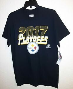 New Pittsburgh Steelers T Shirt NFL Football 2017 Playoffs AFC  Size M 40 x 29
