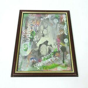 Art By LED One Off Signed Street Art David Bowie Kate Moss Artwork Framed