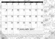 "Doodle Coloring Desk Calendar House of Doolittle 18.5"" x 13""  HOD 1876"
