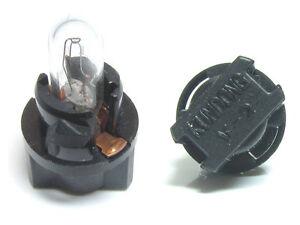 Kumdong V2 V-2 speedometer T5 size Black socket with bulb 14V1.4W LOT OF 4