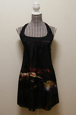 KOOKAI DRESS BLACK WOMENS MULTI PRINT SUNDRESS, Sz 36/ AU 8 RRP $180