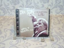 """IAN DURY  """"AND THE BLCKHEADS  LIVE !! """" CD"""