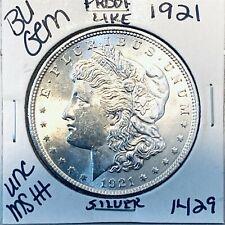 1921 BU GEM MORGAN SILVER DOLLAR UNC MS++ GENUINE U.S. MINT RARE COIN 1429