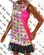 Dress Barbie Pink Green Sleeveless Ruffled Trim 2014 Style Glam Night Teresa