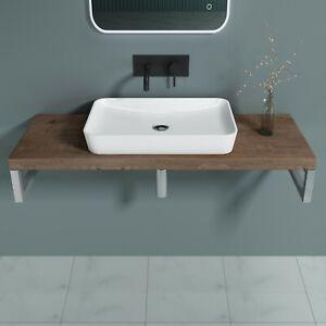 Holzplatte Waschtischkonsole Eiche Waschtischplatte Aufsatzwaschbecken 45cm 50cm