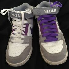 Nike  6.0 shoes Gray, White & Purple Size 5.5 Youth - Size 7 Women's  High Dunk