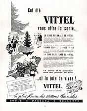 ▬► PUBLICITE ADVERTISING AD Cure Thermale VITTEL 1954