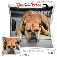 Personalised Photo Cushion Cover Any picture text Photo Printed  Hi Quality Gift
