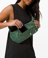 Lululemon NEW On The Beat Belt Bag *4.5L Algae Green/Silver Hardware On The Go