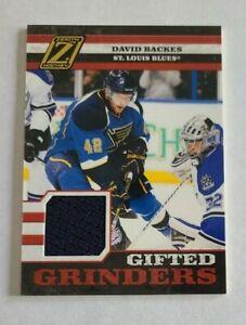 2011-12 Panini Zenith David Backes St. Louis Blues 061/299 - Jersey DARK BLUE