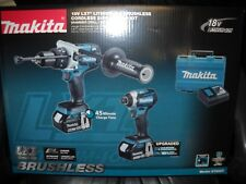 Makita XT268T 18V LXT Brushless 2-PC Combo Kit 5.0Ah 2 Batteries Charger Li-Ion