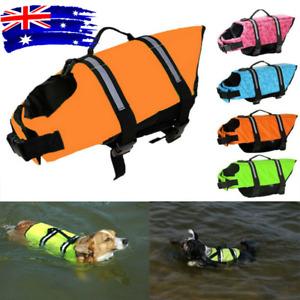 Dog Beach Puppy Swim Life Jacket Safety Vest Reflective Stripes Pet Supply XS-XL