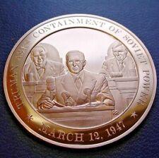 +1947 Containment of Soviet Power - President Truman. Franklin Mint  Bronze