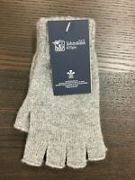 100% Cashmere Fingerless Gloves | Johnstons of Elgin | Made in Scotland | Grey