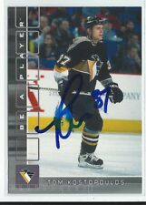 Tom Kostopoulos Signed 2001/02 Be A Player Rookie Card #331