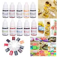 10 Colors Dyes Soap Making Coloring Set Liquid Kit Colorants for DIY Bath  #
