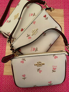 Coach Nolita 15 With Heart Floral Print MSRP:$138 - Chalk//Multi - New with Tags