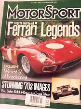MotorSport Magazine Ferrari Legend's Enzo's Finest November 2000 081717nonrh