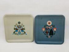 2 Vintage Merck Sharp & Dohme Metal Pharmaceutical Pill Trays PA Dutch Designs