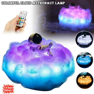 Colorful Cloud Astronaut Lamp Space 3D Rainbow LED Night Light Kids Friend Gifts
