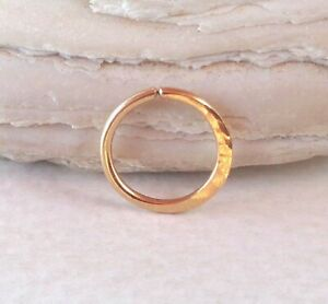 14K Solid Gold Septum Ring,Nose Ring piercing ring,cartilage,helix,tragus,ear