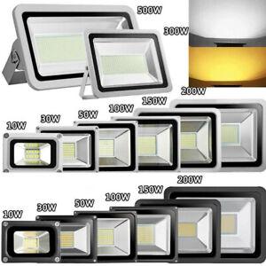 LED Flood Light 1000W 800W 500W 300W 200W 100W Cool Warm White Outdoor Gym Lamp