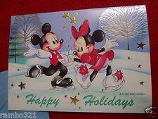 Retro Vintage 1999 Disney Christmas Card Disneyana Mickey Mouse Minnie invite